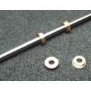 Kluzné mosazné pouzdro 3x6mm s přírubou 7mm (bal. 2ks)