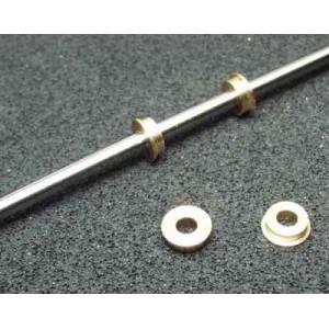 Kluzné mosazné pouzdro 2,5x4x2,5mm s přírubou 5,5mm (bal. 2ks)
