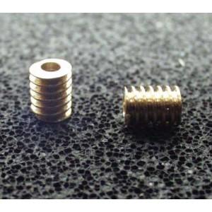 Dvouchodý šnek 3x4/1,5  (hlavový průměr 3mm, délka 4mm, pro osu 1,5mm)
