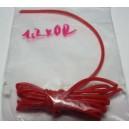 Silikonová bužírka 1,2x0,2mm (průměr x síla stěny)  červená (balení 1m)