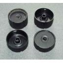 Náboje navlékacích kol pro Xray M18 (tzv. bubínky) (set 4ks)